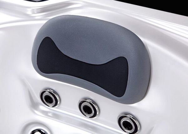 neck rest in a hot tub