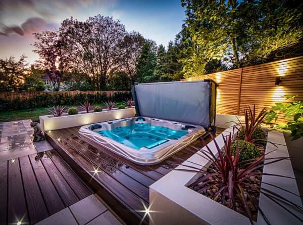 Hottub In Back Garden
