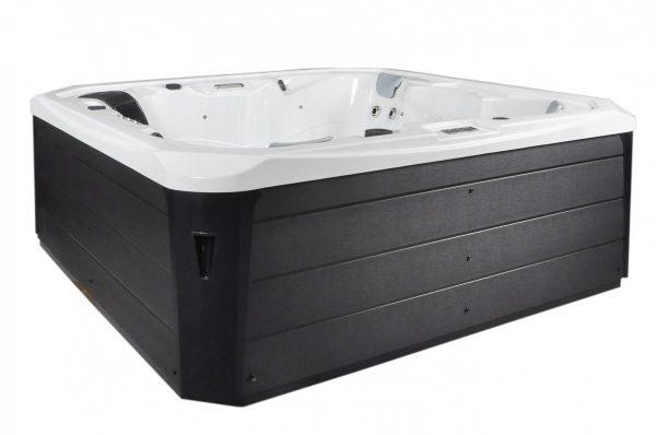 Exterior of a hot tub