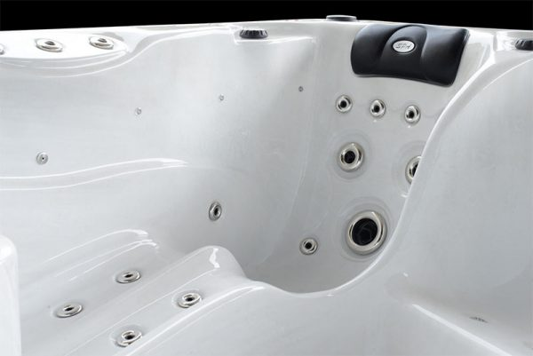 Seat in a hot tub