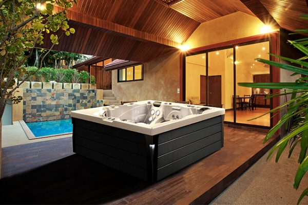 Hot Tub With wooden panels
